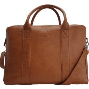 Luxe Laptoptas | Laptop tas | Cognac | 15 6 inch | Leer | Dames | Heren | Laptop tassen | Aktetas | Jaunti®